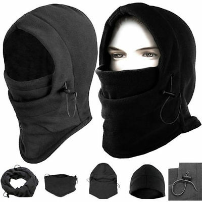 Balaclava Hood Thermal Fleece Winter Ski Mask Hat Scarf  Police Cap Neck Warmer