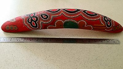 Vintage Aboriginal coolamon - hand painted - Central Australia desert art - rare