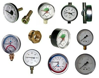 Manometer Thermomanometer Thermometer Axial / Hinten - Radial / Unten TOP PREIS
