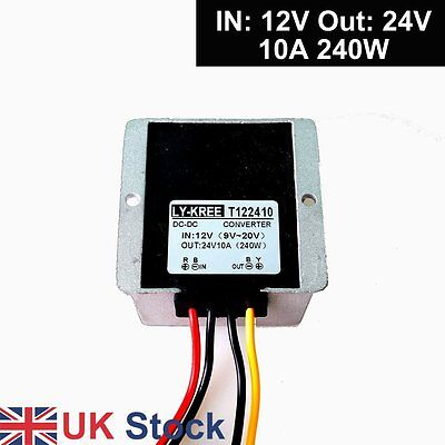 DC 9-20V 12v to 24v Step up Dc Voltage Changer 10A 240W Power Adapter Converter