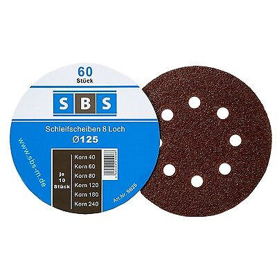 180Paper Sanding Discs Diameter 125mm Grit Each 30x 40/60/80/120/180/240for E...
