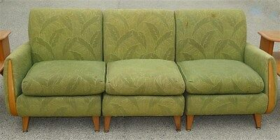 Heywood Wakefield Full Size 1950s 3 Pc Sectional Couch * AS IS