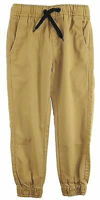 Smith's American Boys' Solid Twill Adjustable Jogger Pants