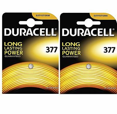 2 X Genuine DURACELL 377 SR626SW Silver Oxide Watch Battery 1.5v NEW
