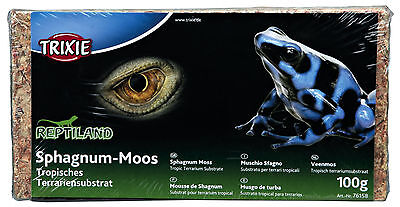 Trixie Reptile Sphagnum Moss Substrate Tropical Terrariums Gecko Frog 4.5L