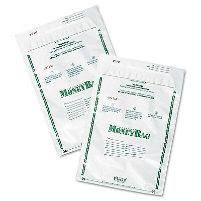 Pm Company Plastic Money Bags Tamper Evident 9 x 12 White 50/Pack 58020