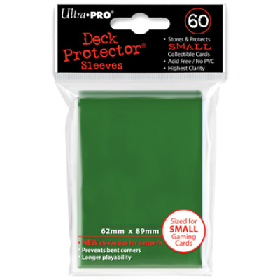 New Ultra Pro Ultra Pro Deck Protectors GREEN - Small (Yugioh) Size 60pk