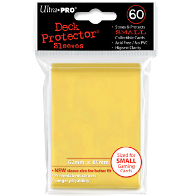New Ultra Pro Ultra Pro Deck Protectors YELLOW - Small (Yugioh) Size 60pk