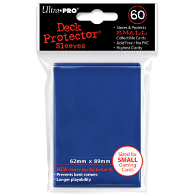 New Ultra Pro Ultra Pro Deck Protectors BLUE - Small (Yugioh) Size 60pk