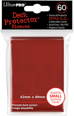 New Ultra-Pro Ultra Pro Deck Protectors RED - Small (Yugioh) Size 60pk