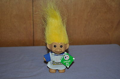 "~  Milwaukee Brewers Mlb 3"" Russ Good Luck Troll Doll Baseball Troll Doll ~"