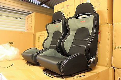 2 x Recaro SR5 in hard wearing fabric suede, medium