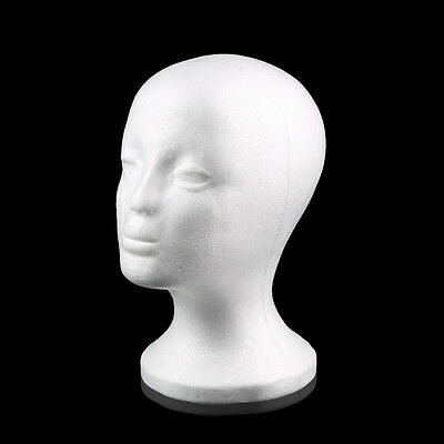 Female Styrofoam Mannequin Manikin Head Model Foam Wig Hair Glasses Display SO