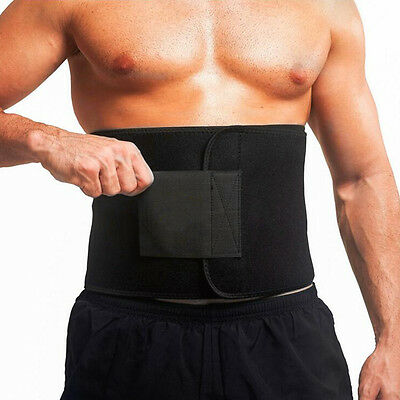 Waist Trimmer Exercise Wrap Belt Burn Fat Sweat Weight Loss Body Shaper Slim SO