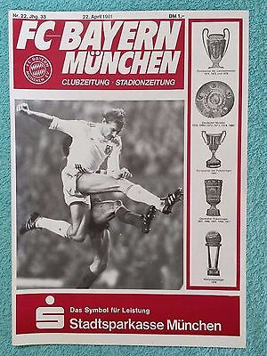 1981 - EUROPEAN CUP SEMI FINAL PROGRAMME - BAYERN MUNICH v LIVERPOOL