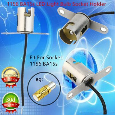 1pc 1156 BA15s LED Light Bulb Socket Holder With Wire Connector for Car Truck SF