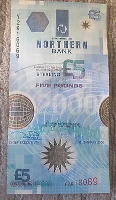 Northern Bank Millennium Polymer £5 Notes Featuring American Space Station