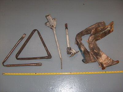 Vintage 1970s Chevy Truck GM NOS White Painted Towing Mirror Bracket Asst Lot