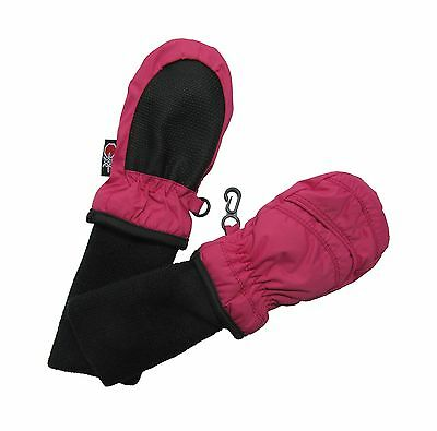 SnowStoppers Kid's Waterproof Stay On Winter Nylon Mittens Extra Small - No T...