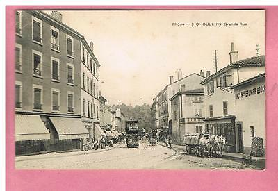 Cpa -  Oullins   -  69 -   Grande Rue   - Tramway