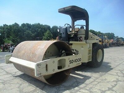 "2006 Ingersoll Rand SD100D 84"" Smooth Drum Roller Compactor, Only 2189 Hrs"