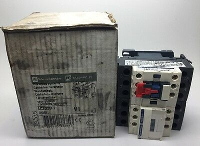 New Telemecanique Reversing Contactor LC2D25F7 11kW 400v COIL: 110v LC1 D25 40A