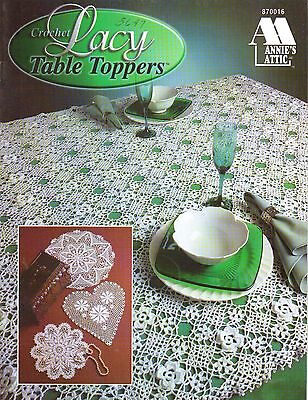 Used Lacy Table Toppers Doilies Tablecloth Runners Crochet Pattern Book
