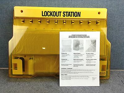 Master Lock model 1483 Lockout Tagout 10-Lock Padlock lockout Station, Unfilled