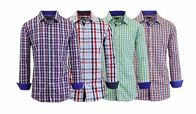 Men's Long Sleeve Casual Button-Down Dress Shirts