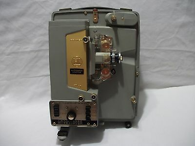 Vintage DeJUR Ambassador Auto Loading 8mm Movie Projector Model P-810 Case Reel