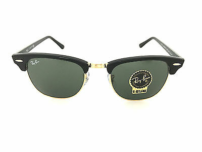 Ray Ban Clubmaster RB3016 W0365 49mm Black Frame, Green Clasic G-15 Lenses