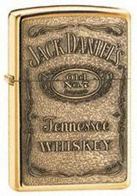 Zippo Jack Daniel'S Label Brass Emblem High Polish Brass