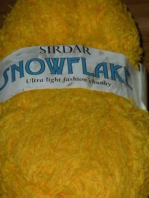 50g SIRDAR SNOWFLAKE CHUNKY KNITTING YARN 365 YELLOW