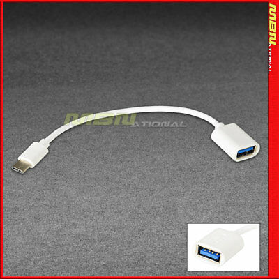 USB-A Female to Type-C Male 3.1 Data Sync Charger Charging Cable Cord OTG 7 Inch