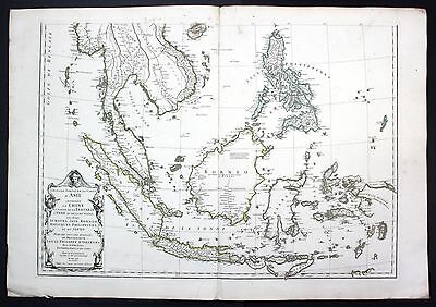 1752 China Asia Philippines Borneo Java Sumatra Malaysia map Karte d'Anville