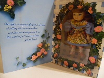 Mothers Day Greeting Card Doll 1996 Marie Osmond- MIP * Free U.S. Shipping
