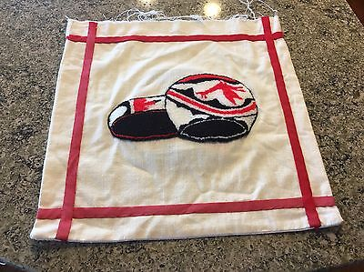 RARE 1 American Indian Navajo Pueblo Embroidered Clay Pottery Pillow Cover Bx62