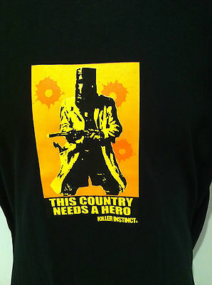 THIS COUNTRY NEEDS A HERO T-SHIRT Ned Kelly NEW Killer Instinct SIZES SMALL