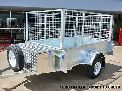 Trailer Cage 900mm 7x5 8x5 Hot Dipped Galvanised Best Quality Cage Only