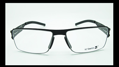 ic! berlin Jasper Screwless Eyeglass Frame - Black