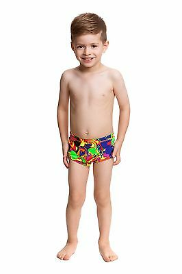 Boys Toddler / Baby Swimmers Funky Trunks Size 1 - Liquefied