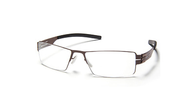 ic! berlin Grigorij p. Screwless Eyeglass Frame - Gun Metal