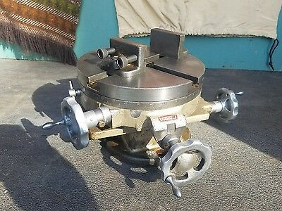 """PALMGREN CRAFTSMAN 8"""" Rotary Cross Slide Table 3-Axis + Angle Stops Excellent"""