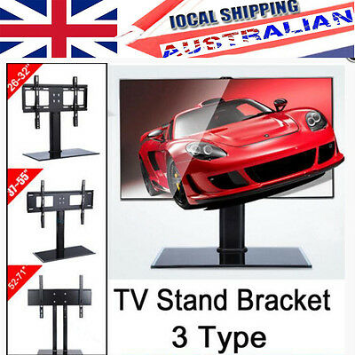 "26-71"" Universal TV Stand Rack LCD LED Plasma VESA Mount Bracket Desktop Monitor"