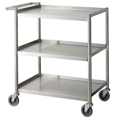 "Turbo Air TBUS-1524E 430 Stainless Steel Bus Cart 24"" Wheeled Rolling Cart"