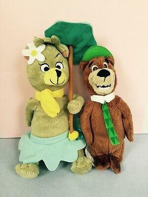 "Hanna Barbera Lot Yogi Bear & Cindy 9"" Plush Stuffed Bears"