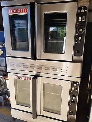 Blodgett DFG-100-III Gas Double Stack Full Size Convection Ovens on CASTERS