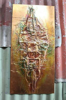 A Stunning Retro Abstract Copper Wall Art Hanging