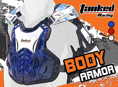 Motorcycle Adults Body Armour Armor Chest Protector Off Road Bike Gear Dirt Bike