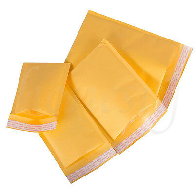 5/10/100pcs Kraft Bubble Envelopes Padded Mailers Shipping Self-Seal Bags 4 Size